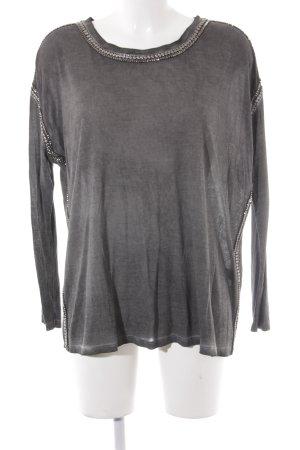 The Kooples Longshirt dunkelgrau-silberfarben Casual-Look