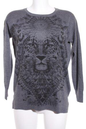 The Kooples Pullover schwarz-grau Casual-Look