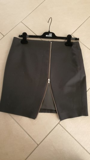 The Kooples Miniskirt black-silver-colored