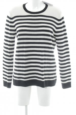 The Kooples Rundhalspullover schwarz-weiß Streifenmuster Casual-Look