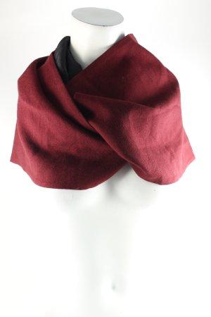 The Kooples Schal schwarz-bordeauxrot klassischer Stil