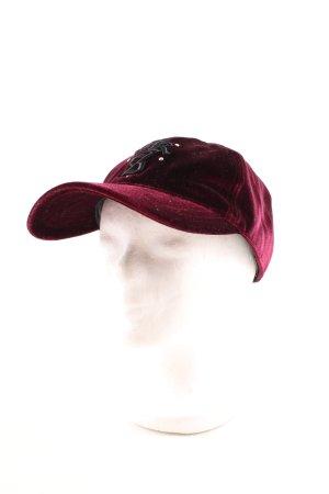 The Kooples Chapeau de soleil rouge mûre-brun pourpre style athlétique