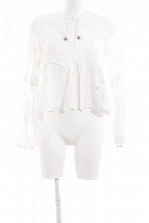 The Kooples Knitted Top white hippie style
