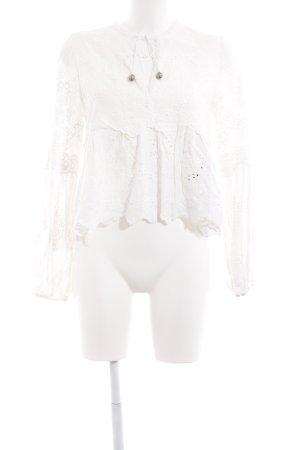The Kooples Haut tricotés blanc style hippie