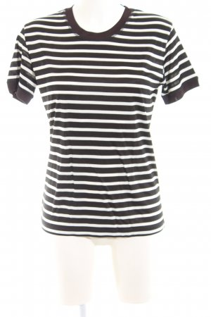 The Kooples T-Shirt schwarz-wollweiß Streifenmuster Casual-Look