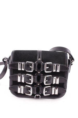 The Kooples Umhängetasche schwarz-silberfarben extravaganter Stil