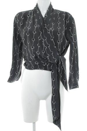 The Kooples Wickel-Bluse schwarz-weiß Punktemuster Elegant