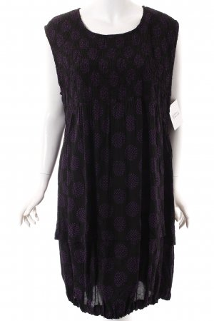 The Masai Clothing Company Ballonkleid schwarz-lila Punktemuster Casual-Look