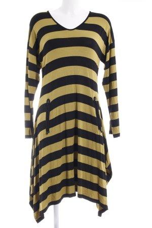 The Masai Clothing Company Longshirt hellgrün-schwarz Streifenmuster