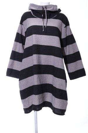 The Masai Clothing Company Turtleneck Shirt light grey-black striped pattern