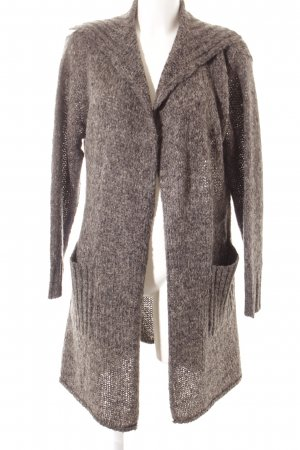 The Masai Clothing Company Strickmantel dunkelgrau meliert Street-Fashion-Look