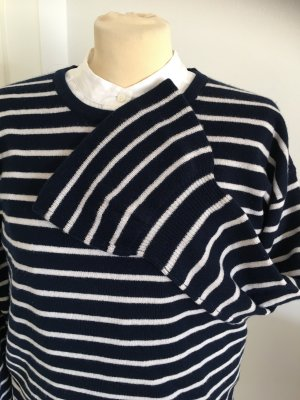 (The Mercer) NY Cashmere Jumper dark blue-white