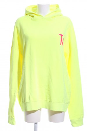 (The Mercer) NY Hooded Sweatshirt neon yellow-neon pink graphic pattern