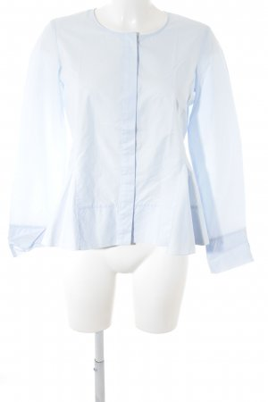 (The Mercer) NY Long Sleeve Blouse light blue-azure business style