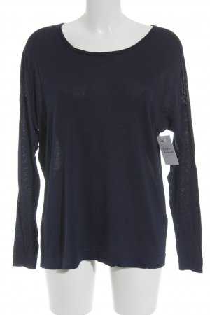 (The Mercer) NY Longsleeve dark blue loosely knitted pattern casual look