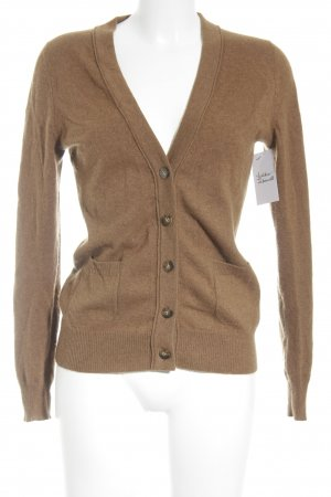 (The Mercer) NY Strickjacke cognac-braun schlichter Stil