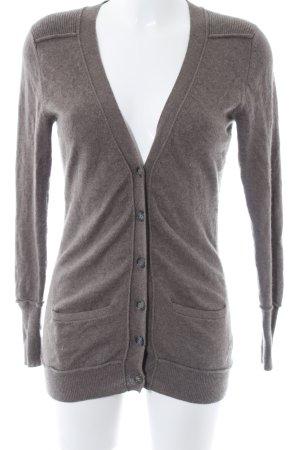 (The Mercer) NY Giacca in maglia marrone chiaro stile casual