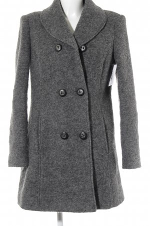 (The Mercer) NY Wool Coat dark grey-grey flecked business style