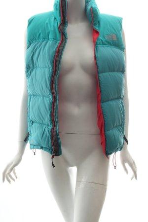 The North Face Daunenweste türkis-neonrot sportlicher Stil
