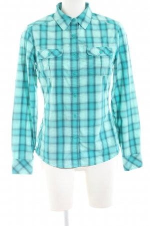 The North Face Flannel Shirt turquoise check pattern casual look