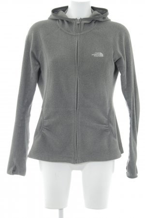 The North Face Chaqueta de forro polar gris estilo minimalista