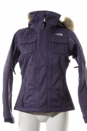The North Face Kapuzenjacke flieder-blassgelb Nadelstreifen Kuschel-Optik
