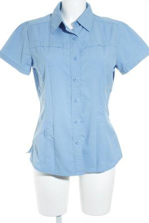 The North Face Kurzarm-Bluse stahlblau sportlicher Stil