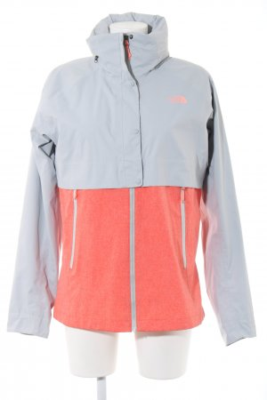 The North Face Outdoorjacke hellgrau-rot meliert Casual-Look