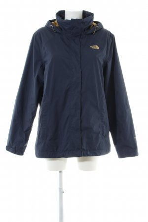 The North Face Outdoor Jacket blue printed lettering casual look