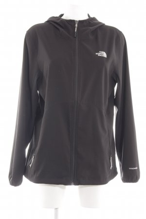 The North Face Outdoor Jacket black printed lettering casual look