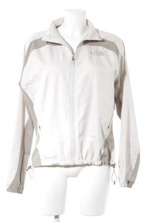 The North Face Chaqueta para exteriores beige claro-gris claro estilo deportivo