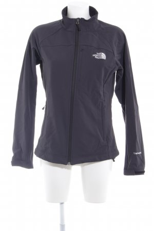 The North Face Softshelljack antraciet-wit casual uitstraling