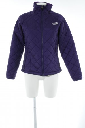 The North Face Softshelljack blauw-paars quilten patroon casual uitstraling