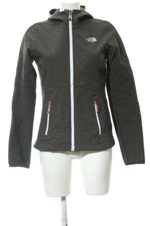 The North Face Softshelljacke dunkelgrau-weiß sportlicher Stil