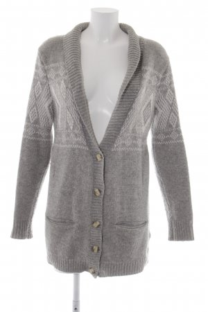 The North Face Strick Cardigan hellgrau-weiß abstraktes Muster Casual-Look