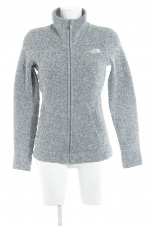 The North Face Veste sweat gris moucheté style athlétique