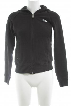 The North Face Sweat Jacket black-white athletic style