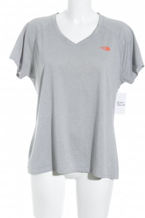 The North Face T-Shirt hellgrau-neonorange meliert Casual-Look