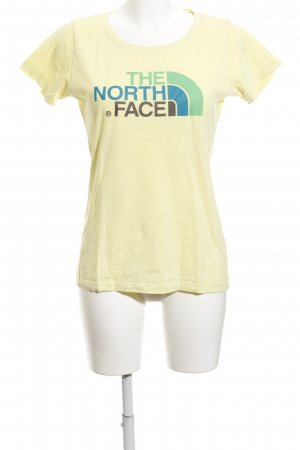 The North Face T-Shirt limettengelb Motivdruck schlichter Stil