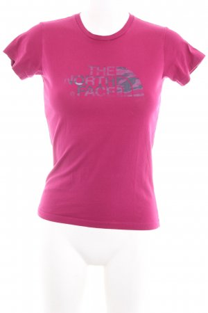 The North Face T-Shirt violett-anthrazit Motivdruck Casual-Look