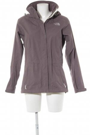 The North Face Windbreaker grey violet casual look