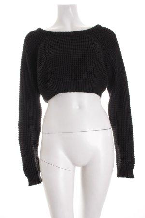 The Ragged Priest Grobstrickpullover schwarz minimalistischer Stil