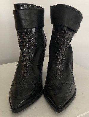The Seller Made in Italy Hammer Ankle Boots Nieten 41 NEU