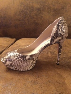 The Seller Peeptoe Pumps in Schlangenlederoptik