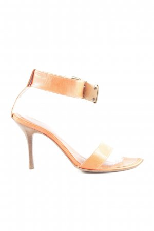 The seller Strapped High-Heeled Sandals brown casual look