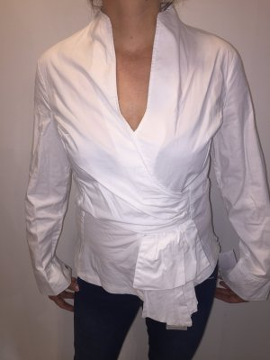Wraparound Blouse white cotton