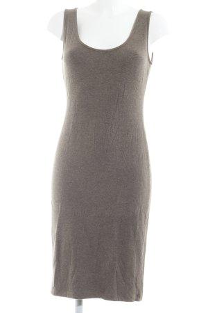 The Swiss Label Vestido de tubo marrón grisáceo