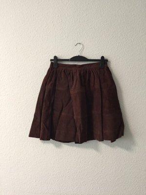 The Wardrobe dunkelbrauner Kunstwildlederrock S NEU