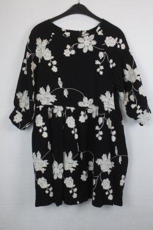 Robe Babydoll noir-blanc coton