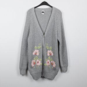 Coarse Knitted Jacket light pink-light grey polyacrylic